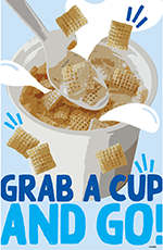 Grab a Cup Poster - English 11x17