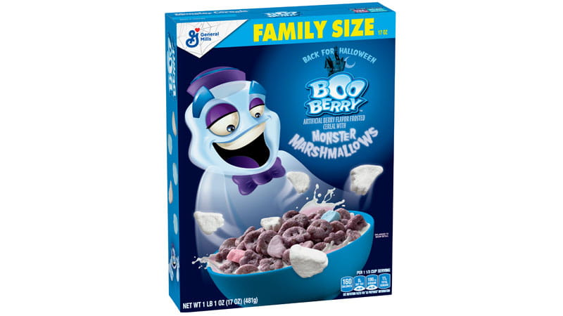 Boo Berry Monster Cereal Xl 17 Oz General Mills Convenience And Foodservice December 1973 saw the introduction of boo berry, the third cereal in the lineup, with the mascot being a dapper blue ghost. boo berry monster cereal xl 17 oz