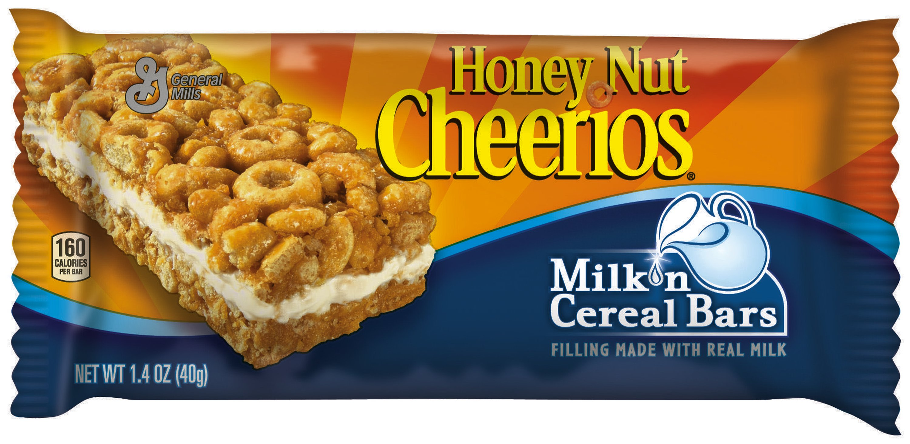 Milk n cereal bars honey nut cheerios 16oz 12ct general mills related resources ccuart Choice Image