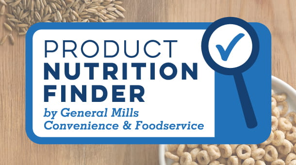 Product Nutrition Finder by General Mills Convenience and Foodservice