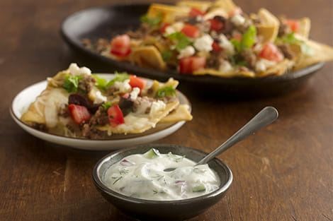 Gyrachos with Greek Feta Tzatziki
