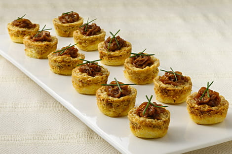 Caramelized Onion and Goat Cheese Mini Tortes