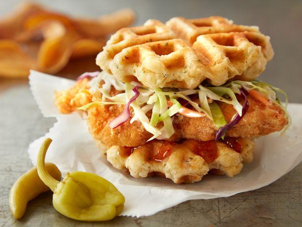 biscuit waffle sandwich