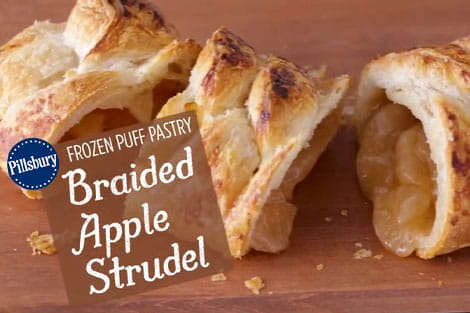 Pillsbury™ Puff Pastry: Braided Apple Strudel