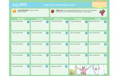 Bihn Templates Menu Calendars General Mills Convenience