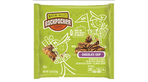 """photo about Nature Valley Printable Coupons called Mother nature Valleyâ""""¢ Backpackerâ""""¢ Chewy Oatmeal Bites Chocolate"""