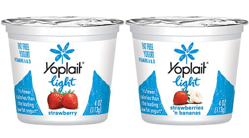 yoplait light yogurt strawberry strawberry banana 4oz general