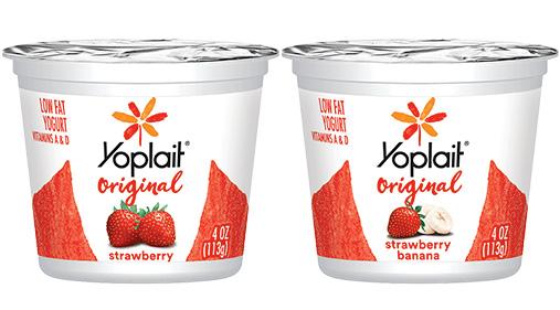 Yoplait® Original Yogurt Single Serve Cup Variety Pack Strawberry and Strawberry Banana 4 oz